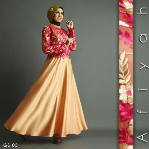 Image Result For Model Gamis Brokat Mix Satin