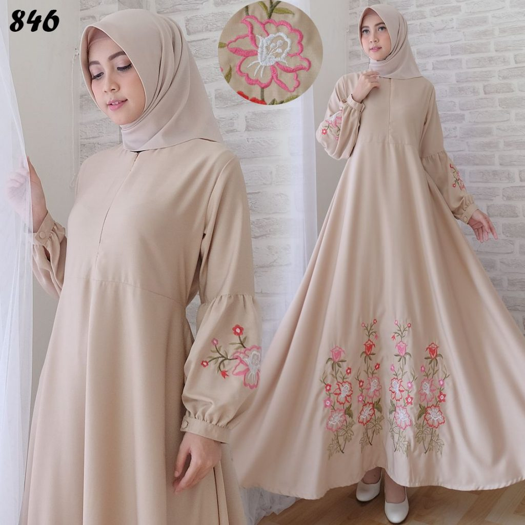 Image Result For Model Gamis Kotak Kotak Kombinasi Polos