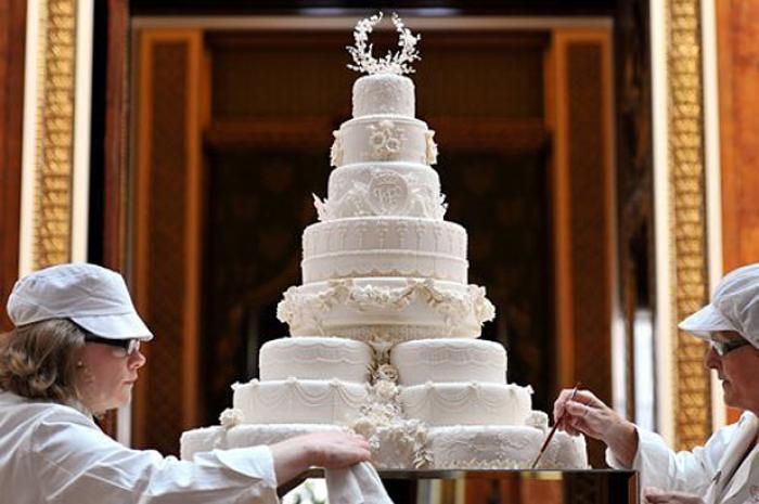Wedding Cake Costs  4 Celebrity Cake Prices Over  10 000   BakeCalc Prince William and Kate Middleton wedding cake