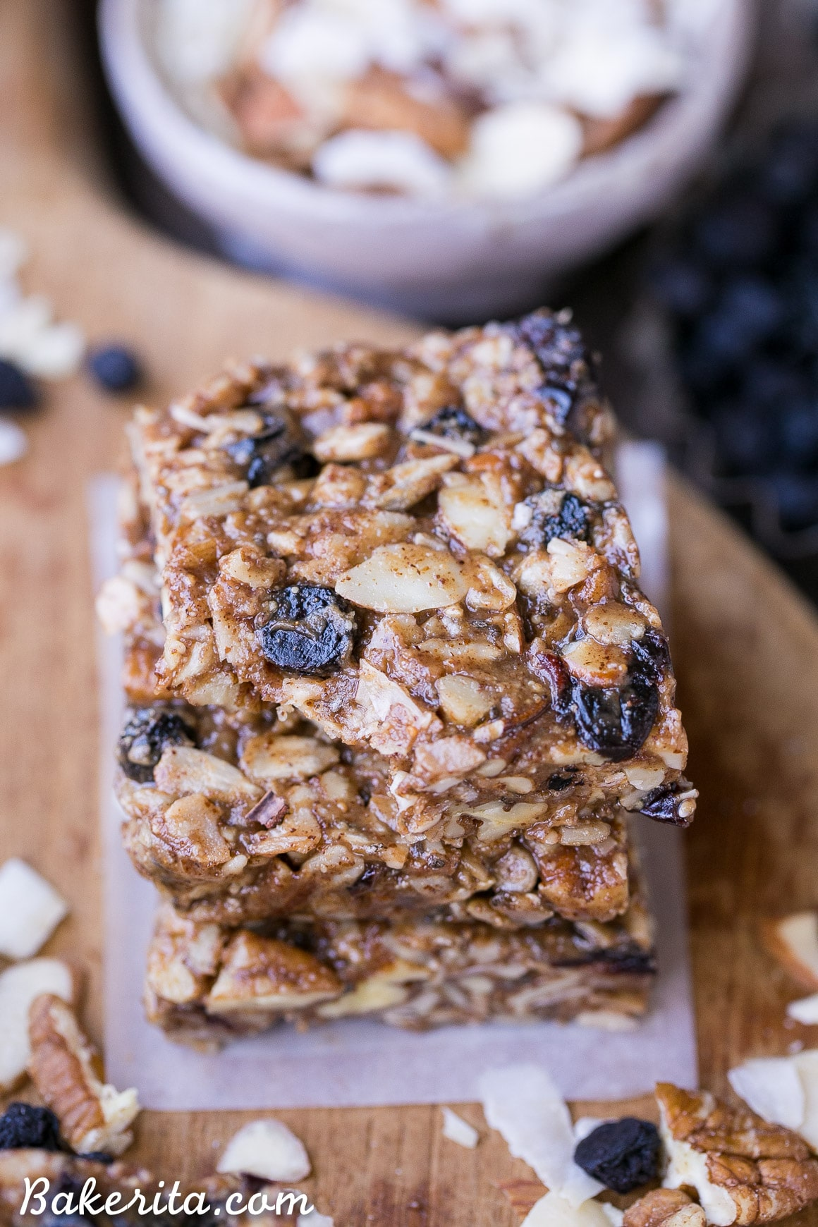 No Bake Trail Mix Granola Bars Paleo Vegan Bakerita
