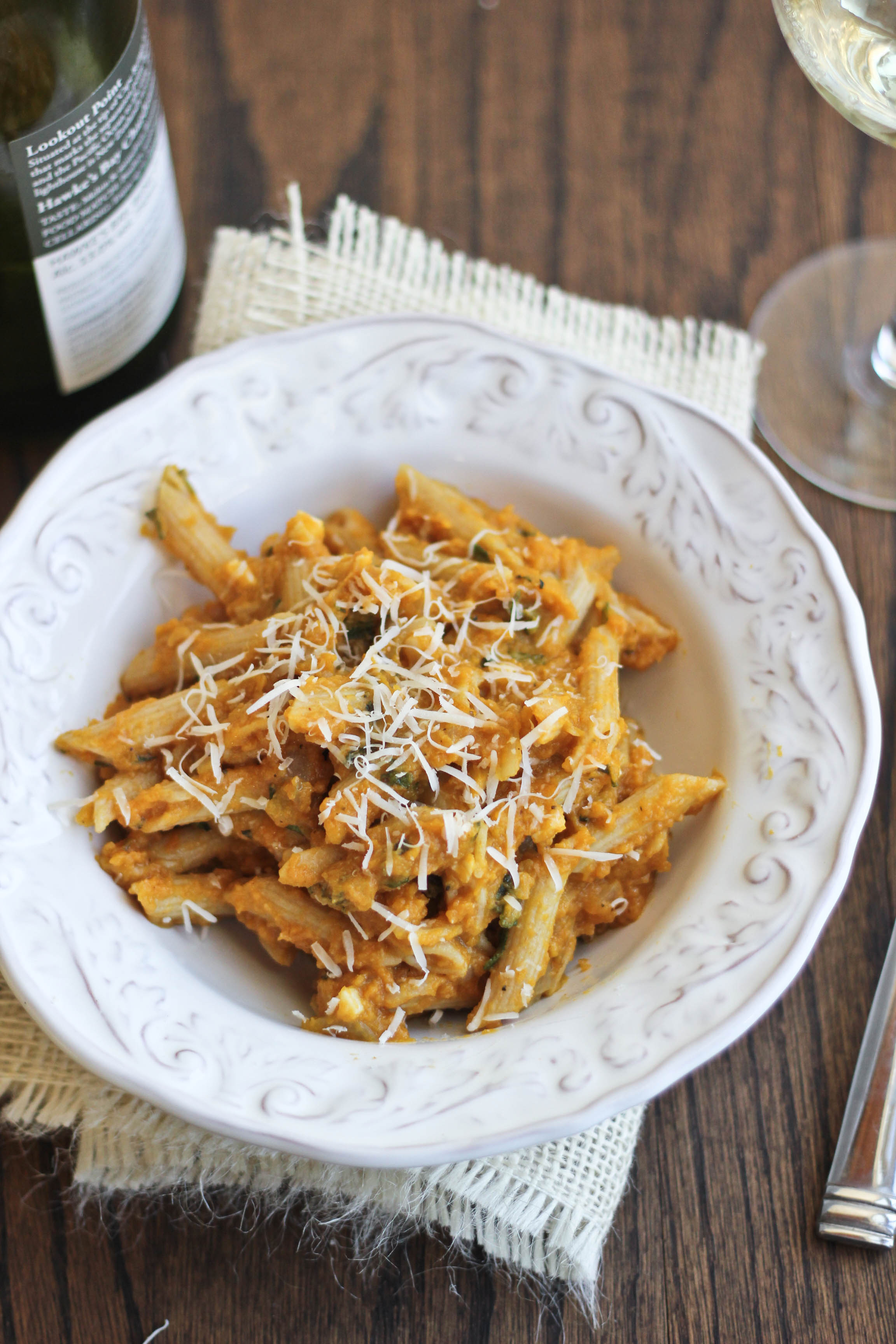 Creamy Pumpkin Pasta With Parmesan Amp Sage Bake Your Day
