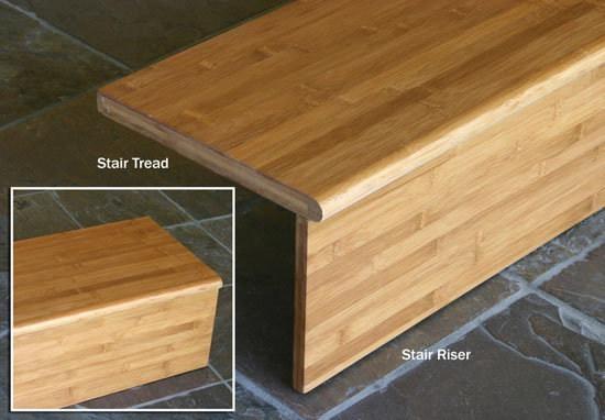 Bamboo Stair Tread Stair Riser Stair Step Stair Case   Engineered Oak Stair Treads   Hardwood Flooring   Red Oak   Wood   Modern Retro   Plywood