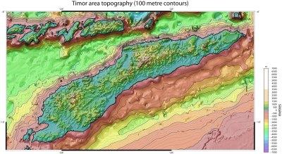 Eastern Indonesia topographic maps - SRTM Timor, Seram ...