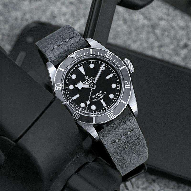 22mm Dark Gray Vintage Suede Watch Band B Amp R Bands