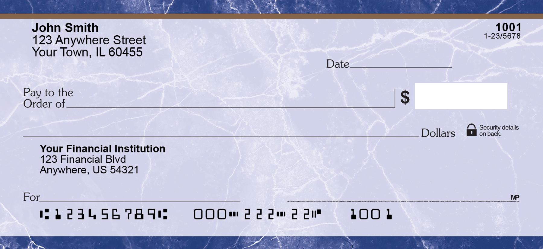 Personal Bank Checks
