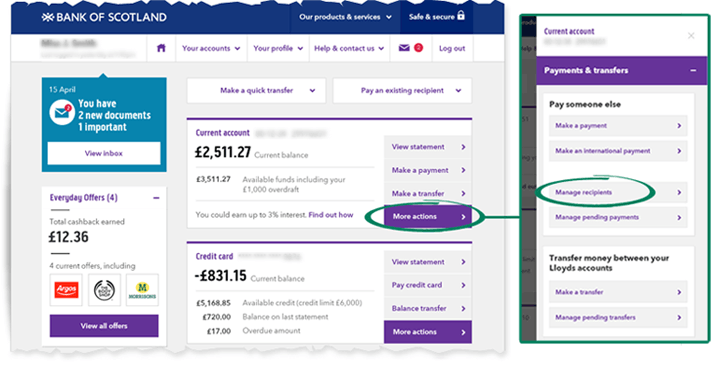 Bank Scotland Personal Online Banking