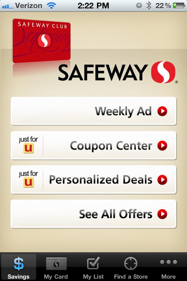 Just U Safeway Coupons