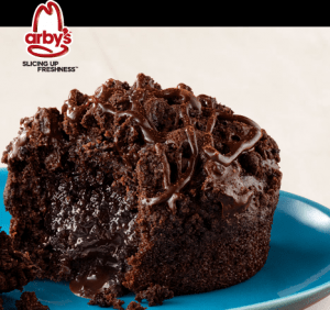 Arby S Coupon Free Chocolate Molten Lava Cake With Combo