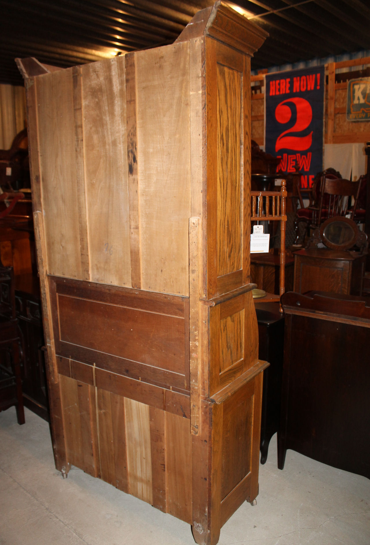 Bargain John S Antiques Antique Oak Drop Front Secretary