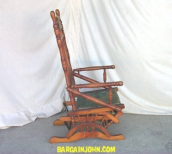 Bargain John S Antiques Victorian Antique Wooden Glider