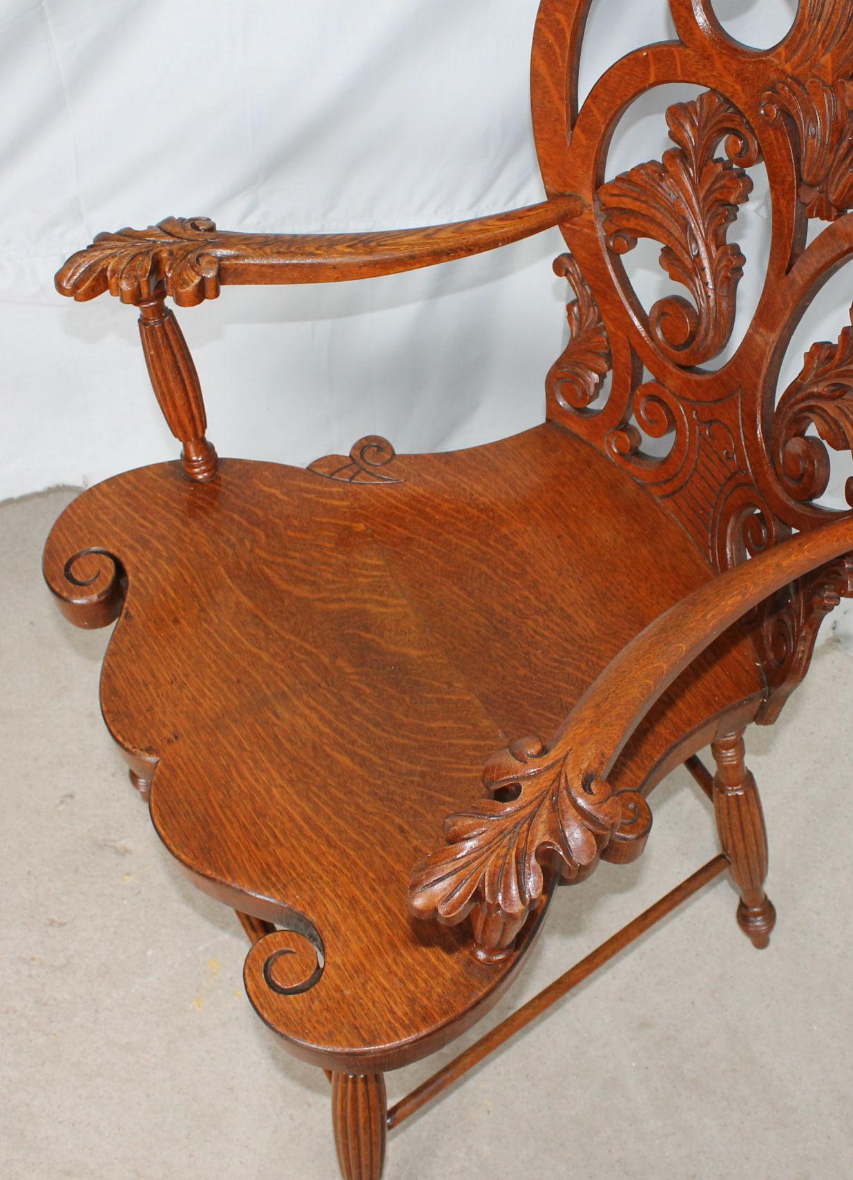 Bargain John S Antiques Antique Quarter Sawn Oak