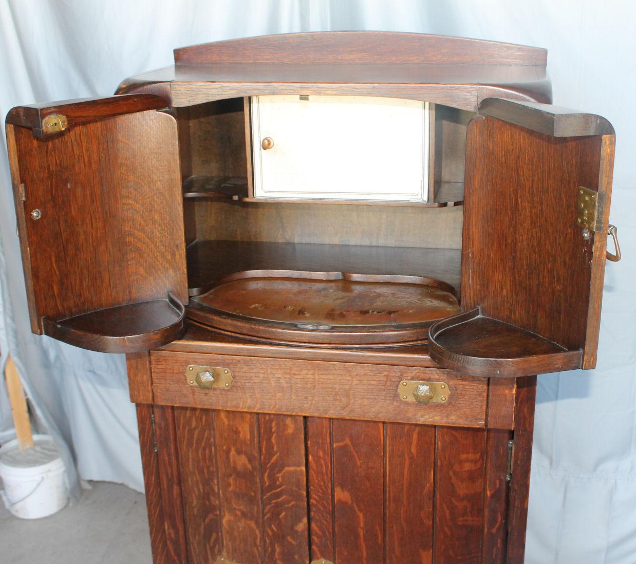 Bargain John S Antiques Mission Oak Liquor Cabinet