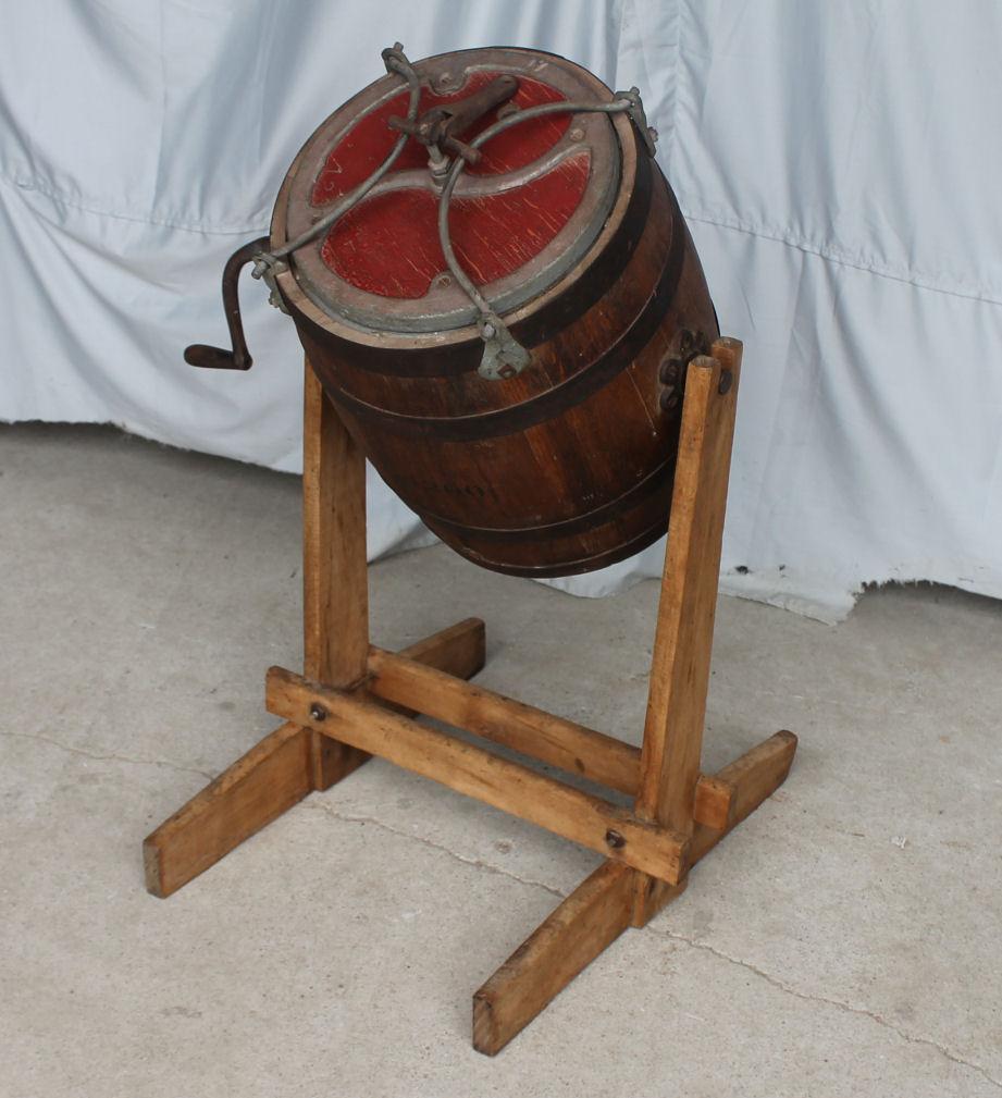 Bargain John S Antiques Butter Churn Oak Barrel Style