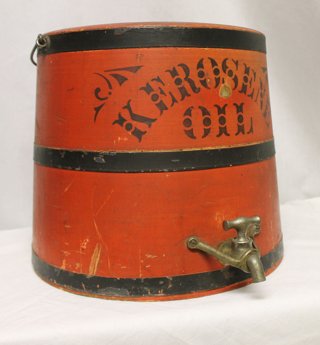 Bargain John S Antiques Kerosene Oil Wooden Bucket With