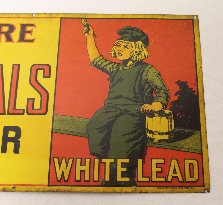 Bargain John S Antiques Dutch Boy White Lead Paint Tin
