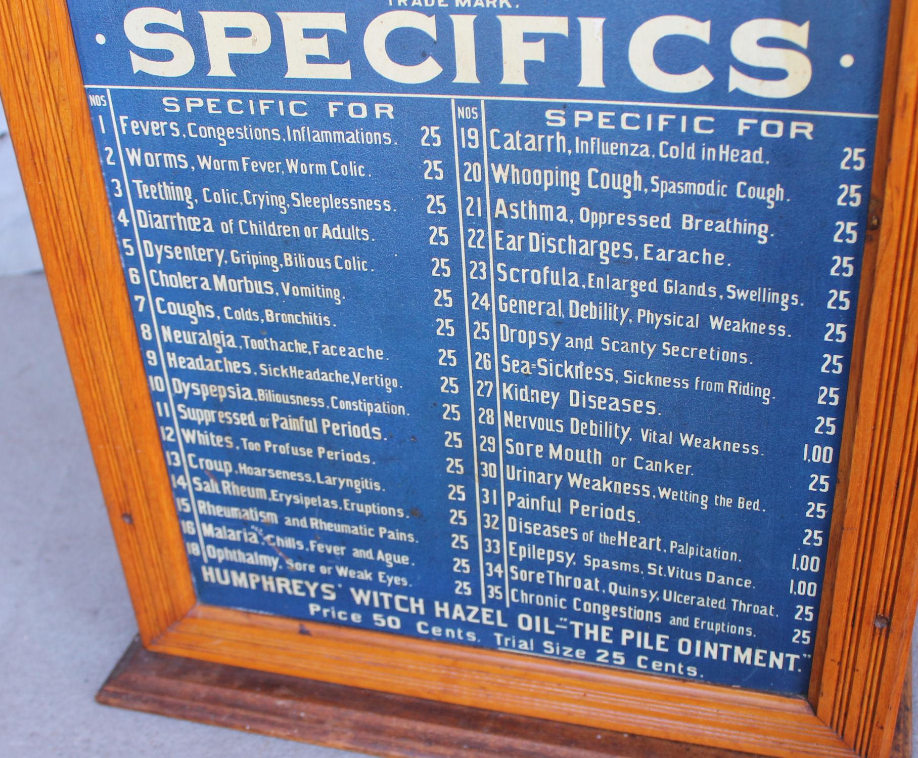 Bargain John S Antiques Humphreys Specifics Apothecary
