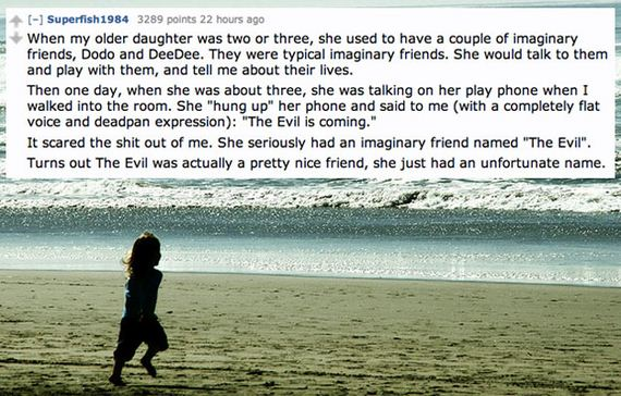 Creepiest Things Kids Have Said About Their Imaginary