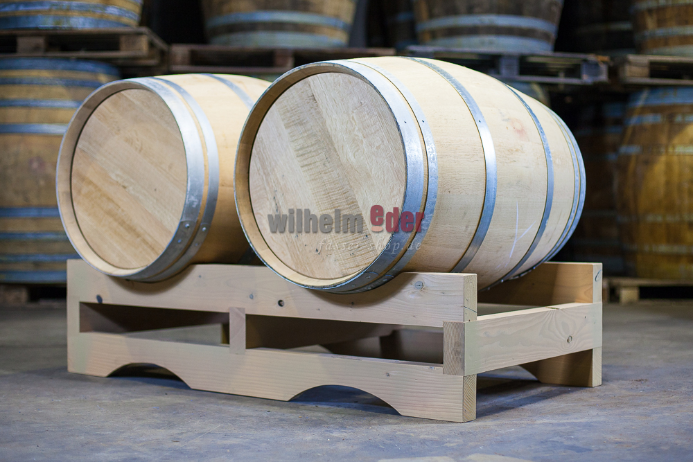Solid Double Barrel Storage Rack Made From Douglas 225l