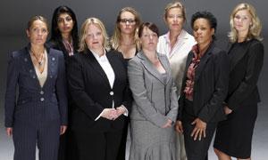 Kristina Grimes, Ghazal Asif, Gerri Blackwood, Natalie Wood, Sophie Kain, Katie Hopkins, Jadine Johnson & Naomi Lay in The Apprentice