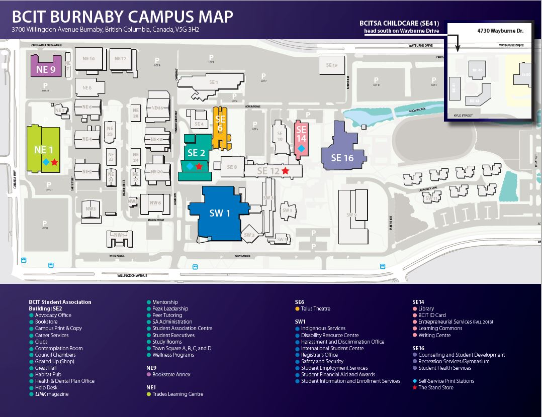 Campus Map Bcit Student Associationbcit Student Association