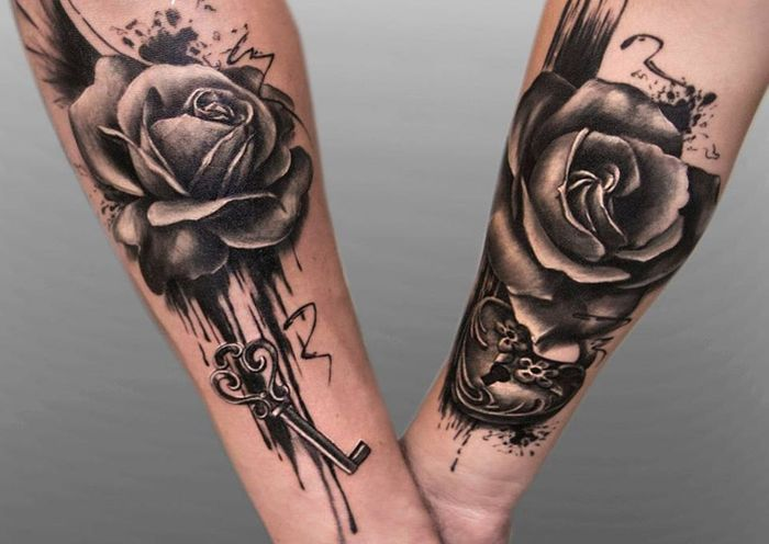 30 Beautiful Couple Matching Tattoos Ideas