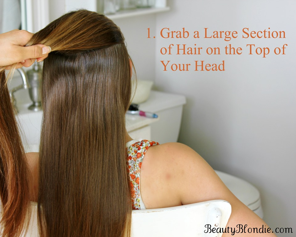 French Braid your hair in 7 Simple Steps  With a Video  Grab a good size section of hair on the top of your head to