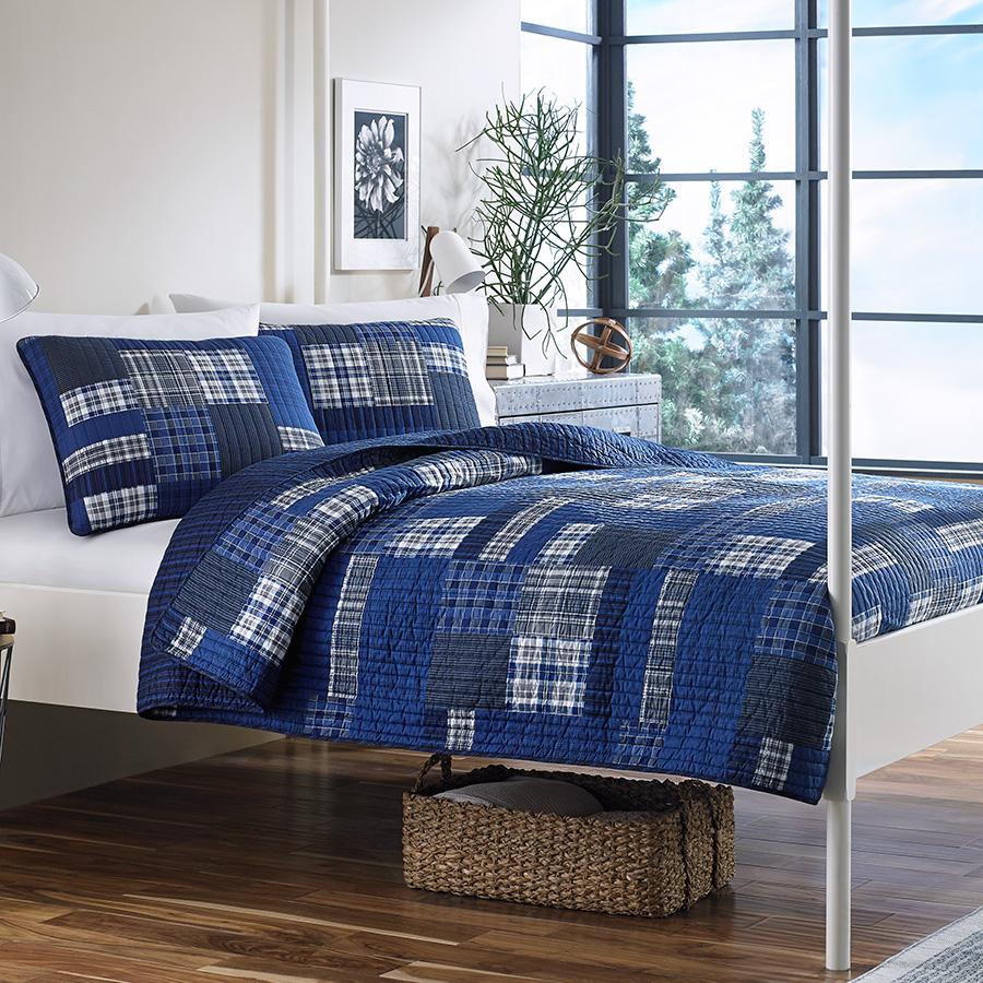Navy Blue Quilt Set