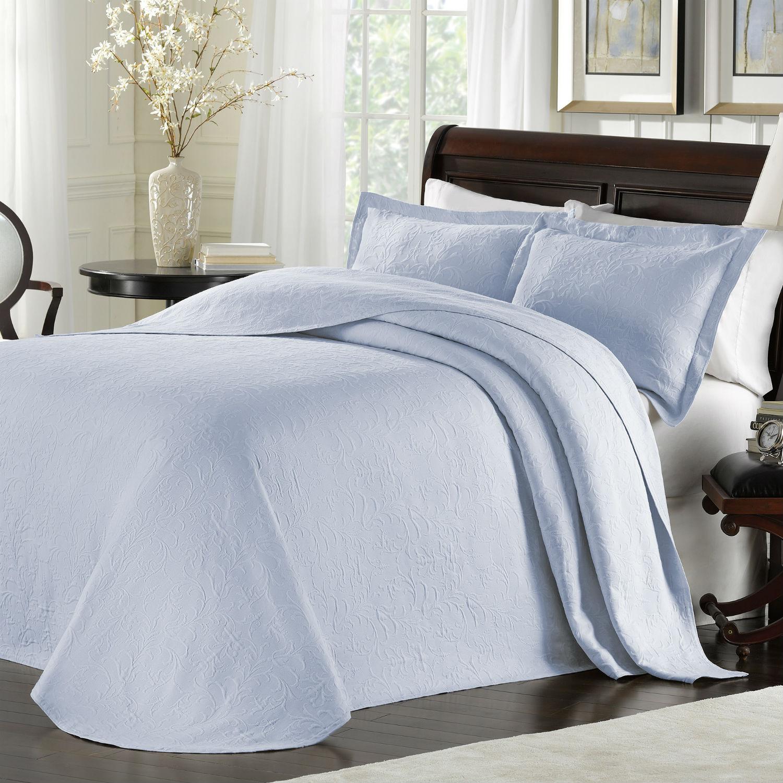 Majestic Light Blue Bedspread By Lamont Home