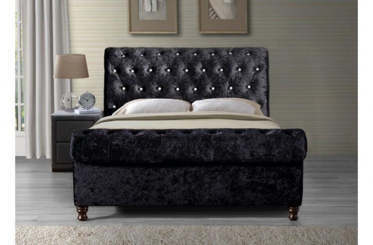 Birlea Bordeaux 6ft Super Kingsize Black Fabric Bed Frame