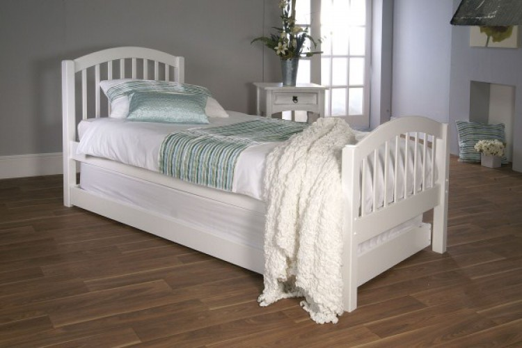 Limelight Despina 3ft Single White Wooden Bed With Guest
