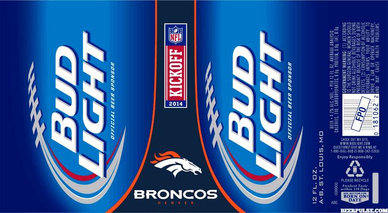 Broncos Bud Light Cans