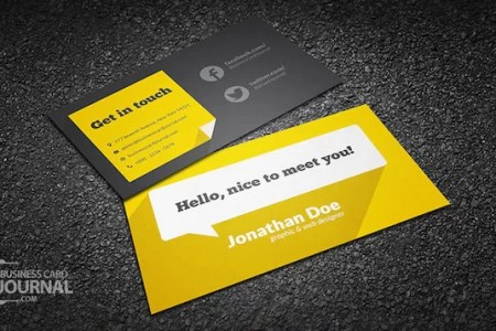 20 Amazing Free Creative Business Card Templates flat design freelance individual business card template with