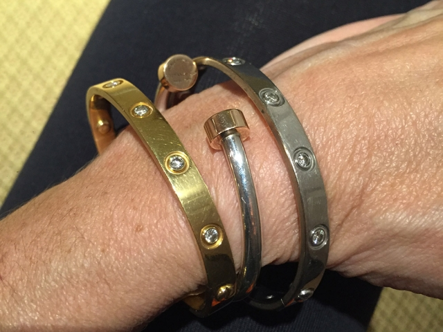 How To Stack with The Cartier Love Bracelet   Bejeweled Debbie Gaelen