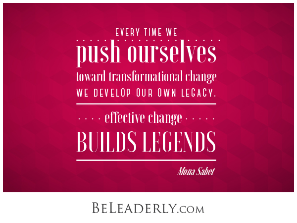 Leaderly Quote: Leading change