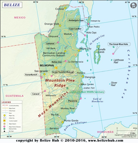 belize location on the caribbean map » Another Maps [Get Maps on HD ...