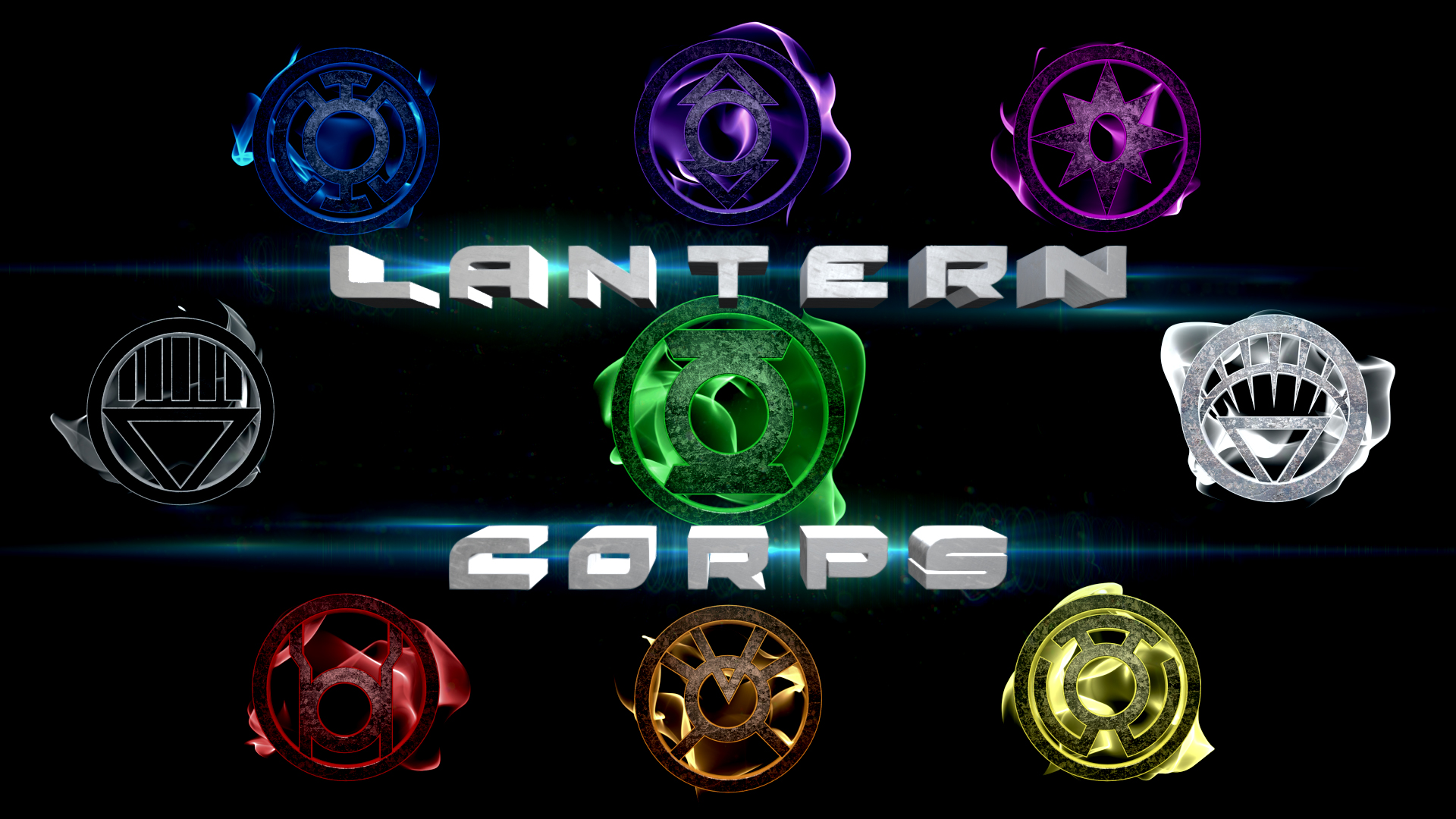 Green Lantern All Colors