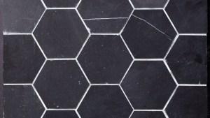 """Beltile Eastern Black Marble Hexagon 4"""" Honed 4"""
