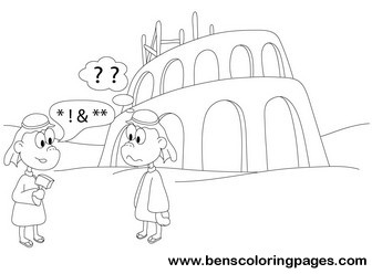 tower of babel coloring pages # 19