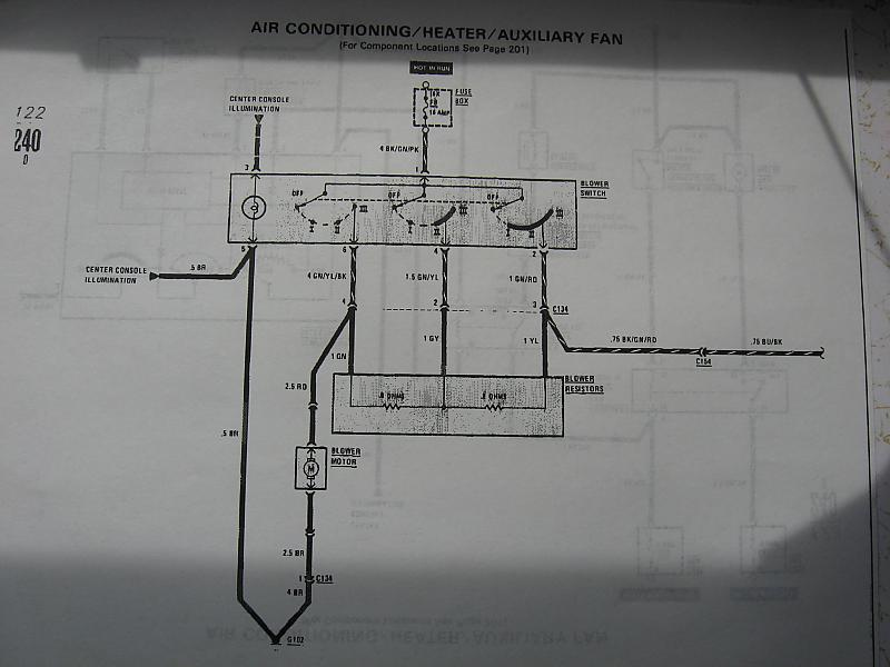 Mercedes 1981 240d Airconditioning System Diagrams