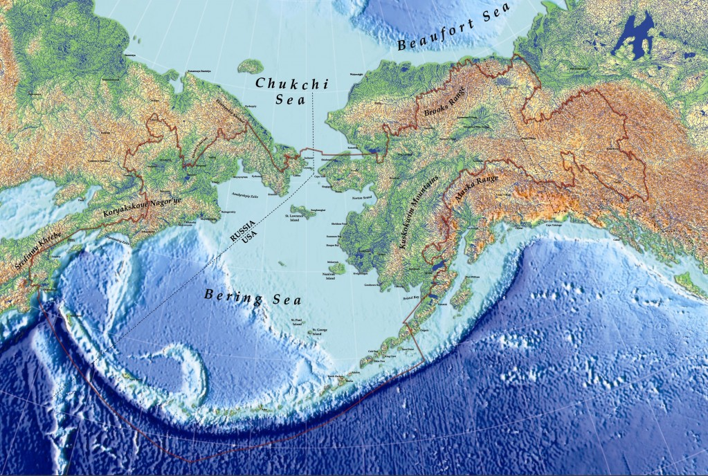 Physical Map Advertisement bering sea physical
