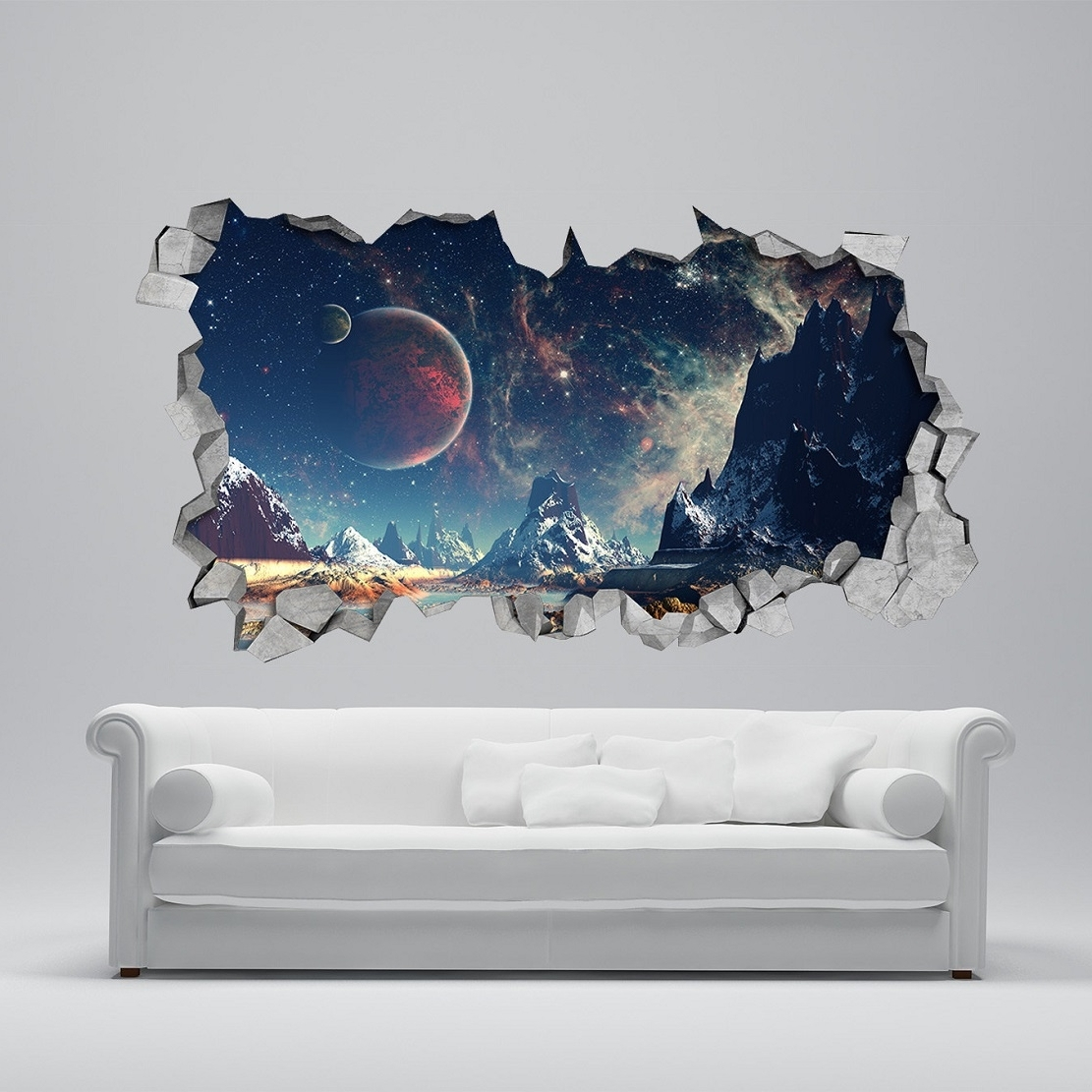 Solar System 3d Wall Decals