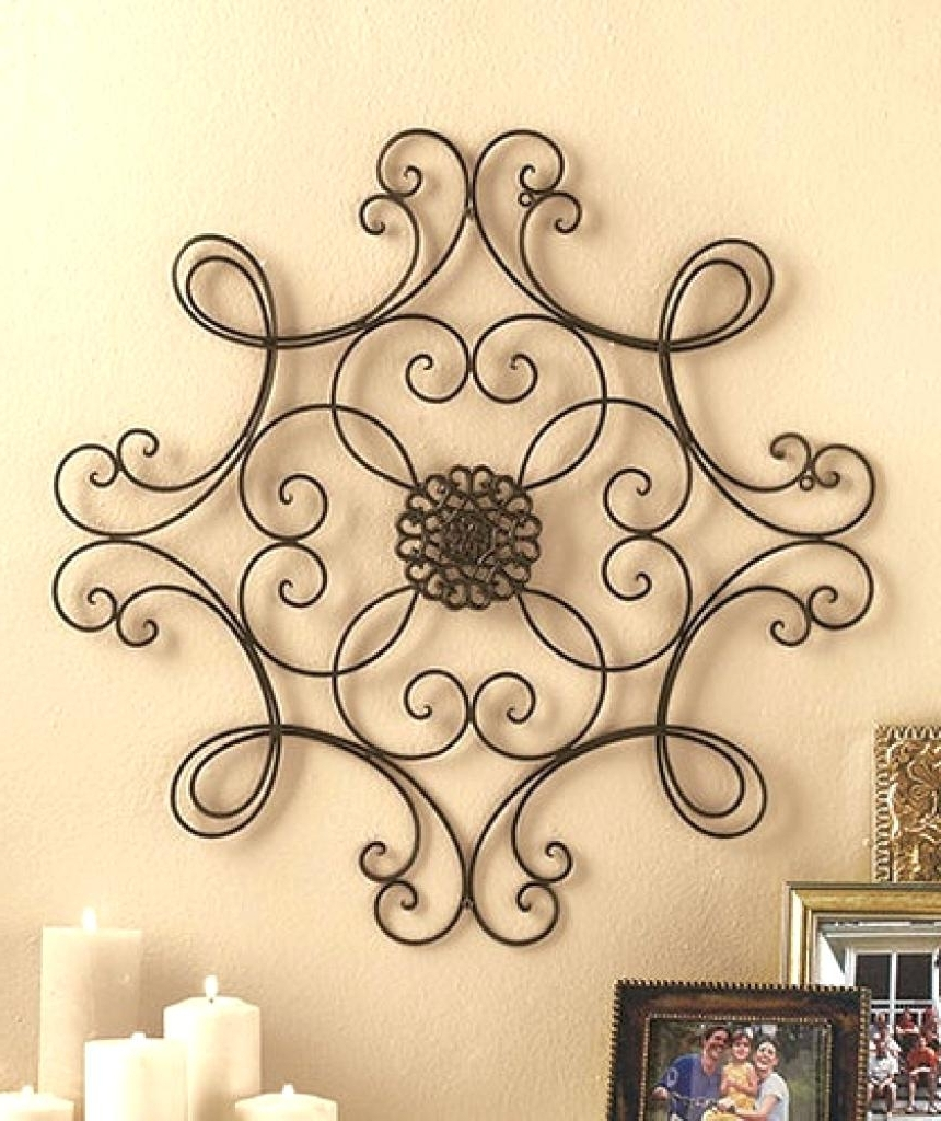 Outdoor Metal Scroll Wall Decor