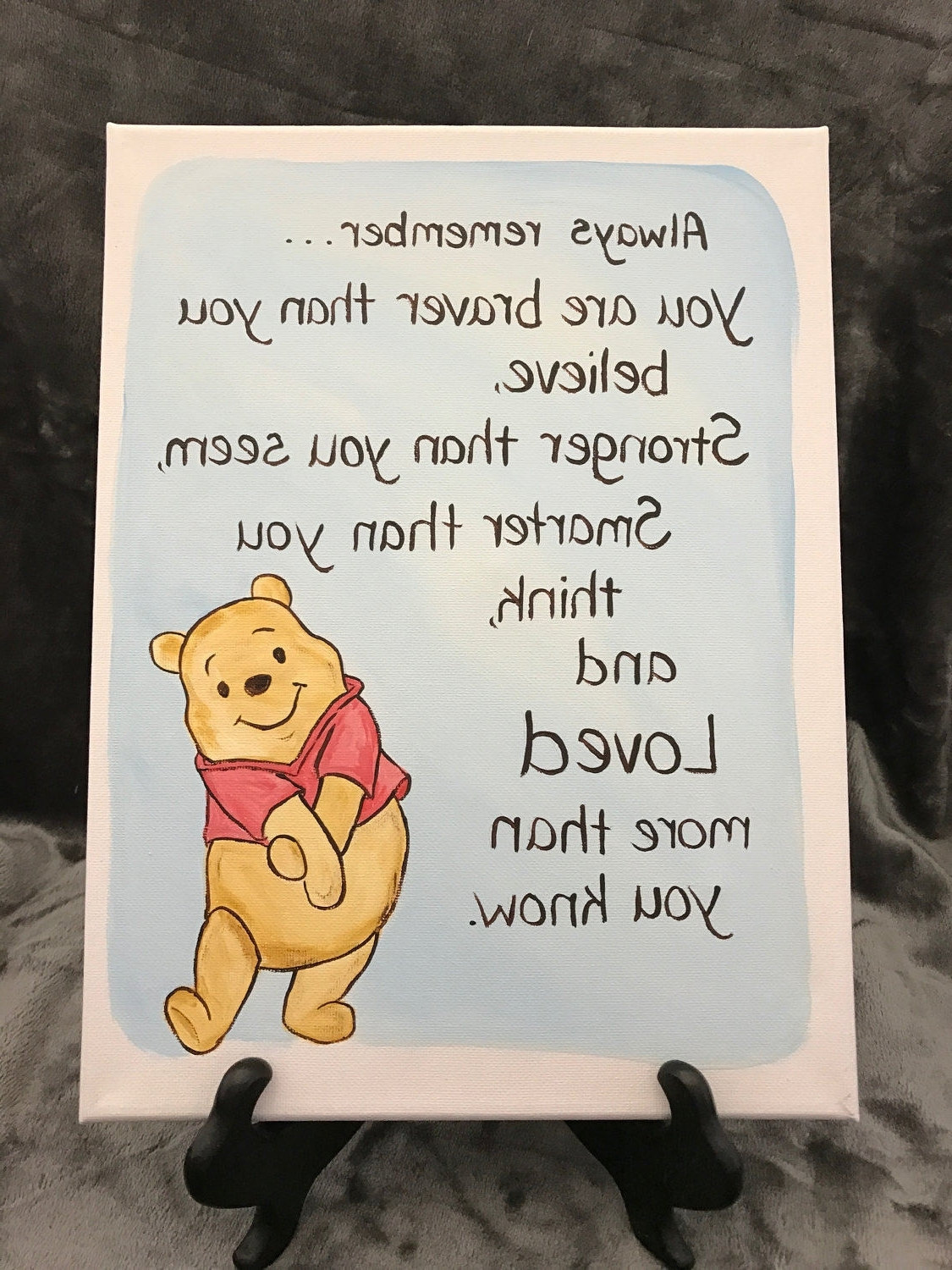 Explore Photos of Winnie The Pooh Nursery Quotes Wall Art  Showing     Most Recent Winnie The Pooh Nursery Quotes Wall Art Throughout Classic  Winnie The Pooh Quote Art