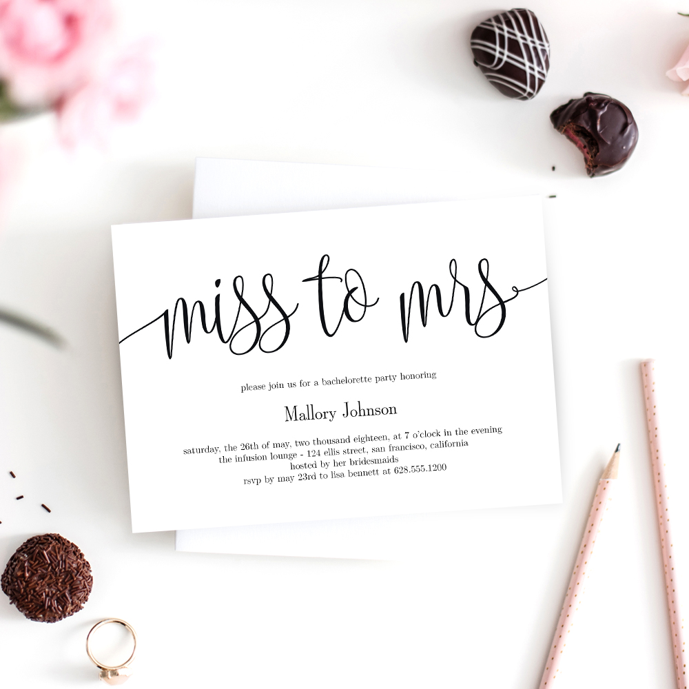 Printable Invitations Wedding Templates