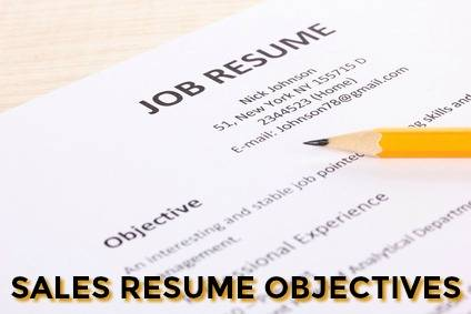 Sample Sales Resume Objective Sales Resume Objective