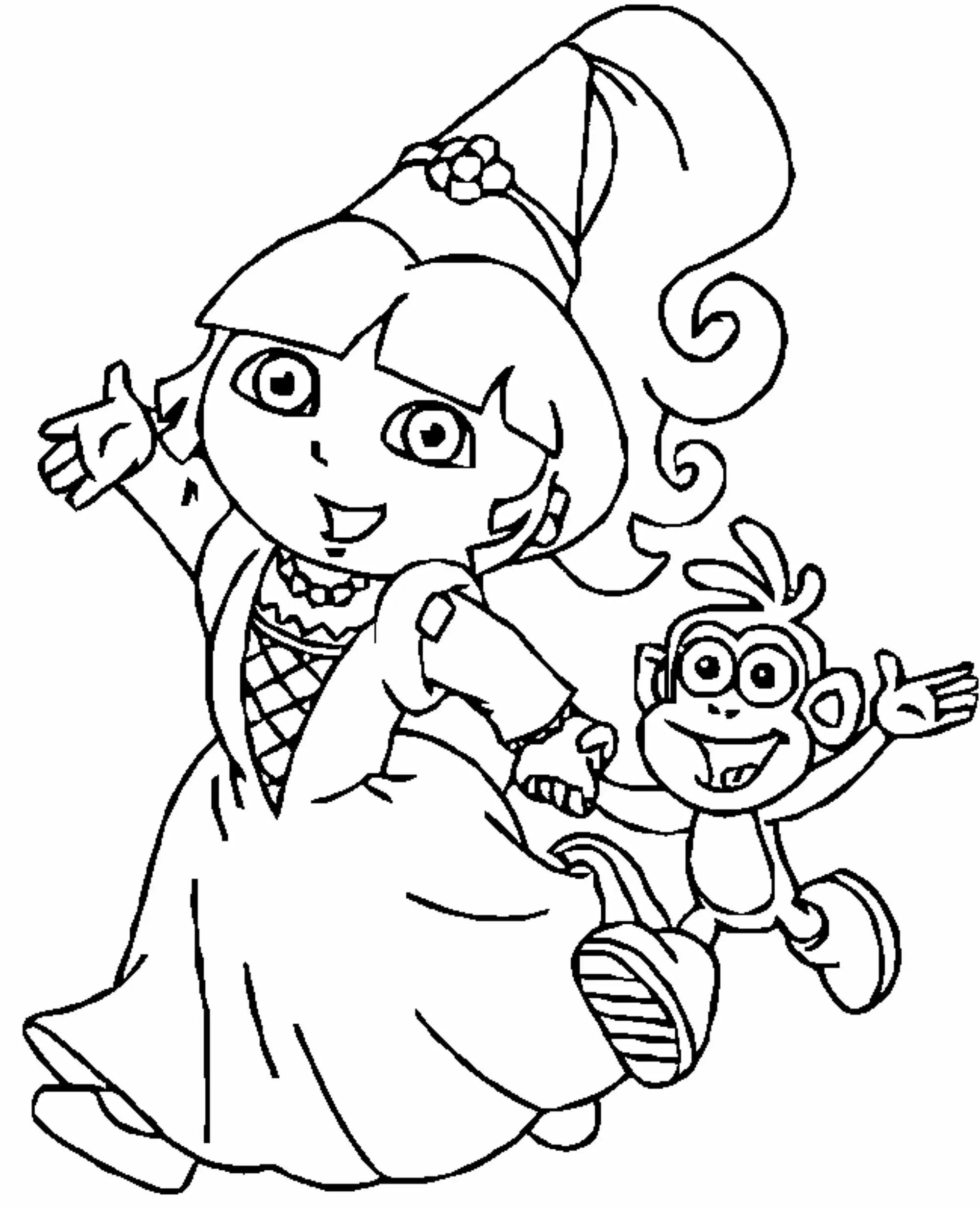 Dora Princess Coloring Pages Bestappsforkids