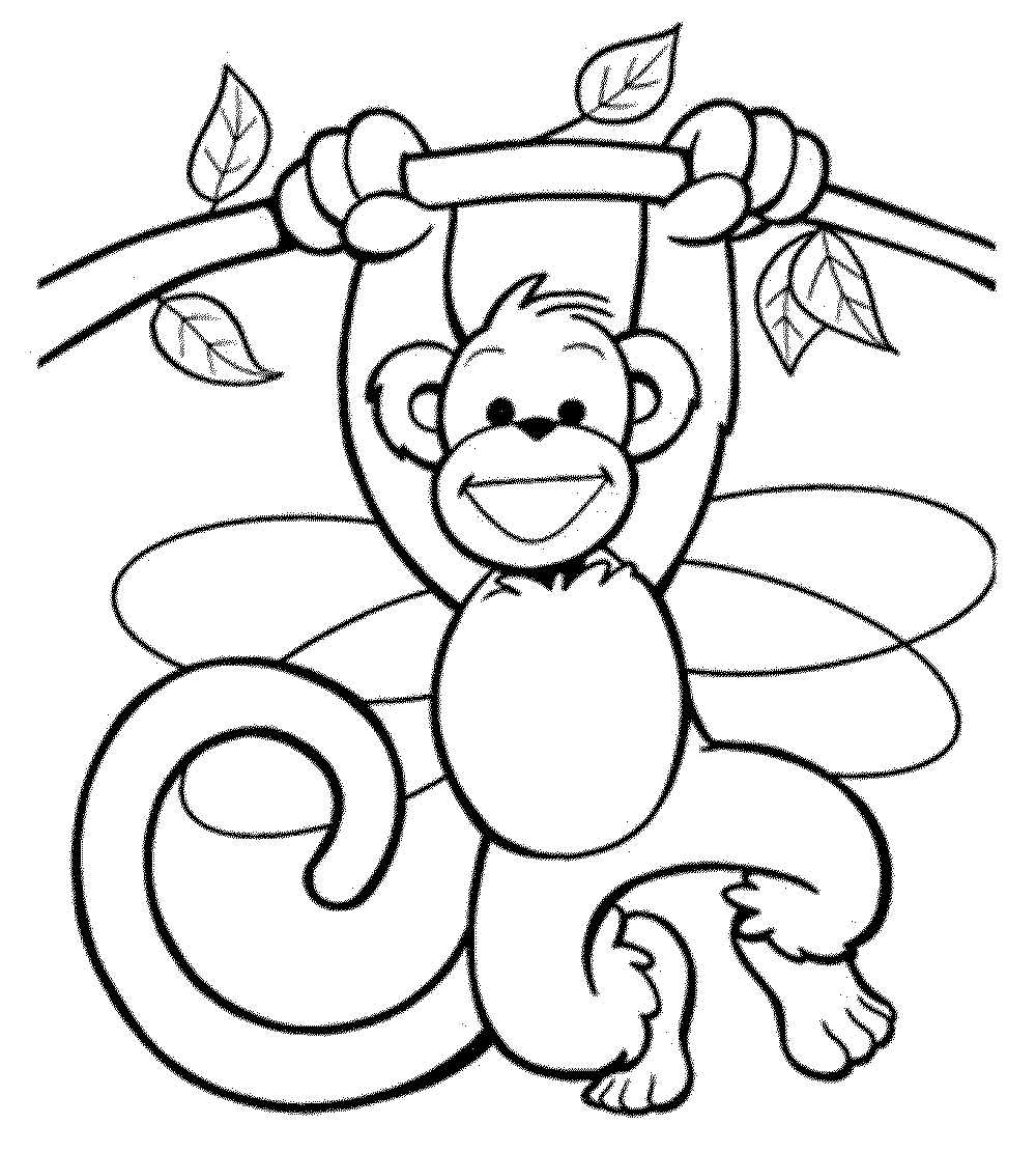 Monkey Coloring Pages To Print Coloring Page