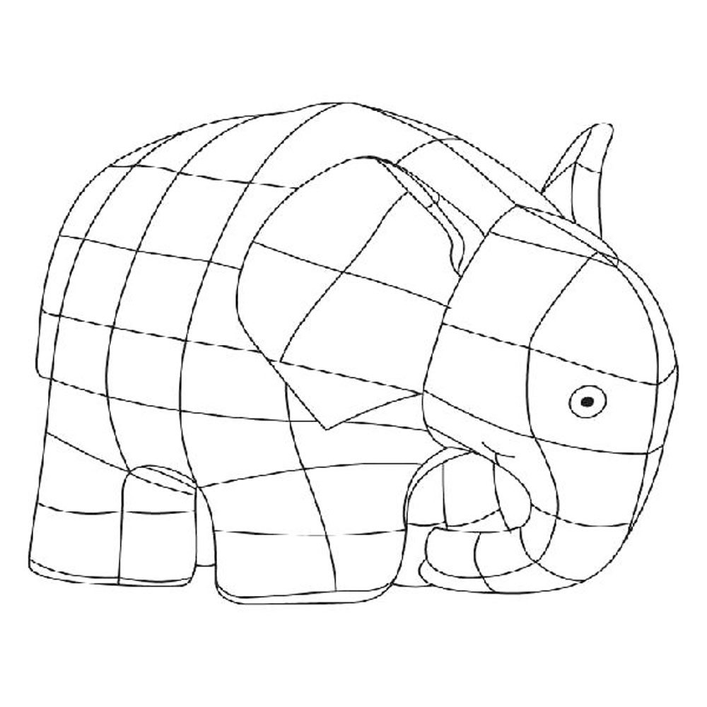 Free Coloring Pages Download Elmer The Elephant Page Bestappsforkids Of