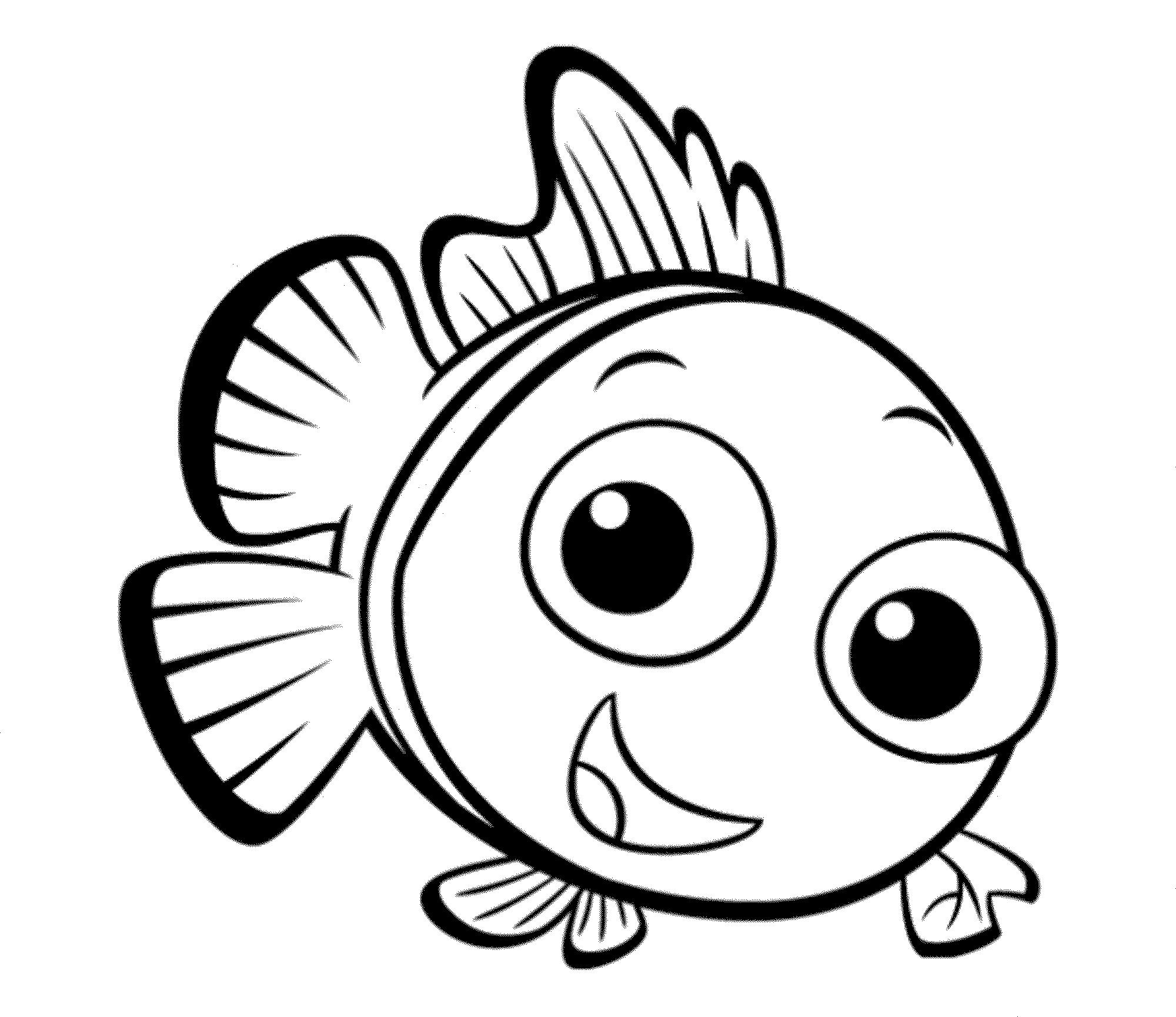 Cute Fish Coloring Pages Coloring Page