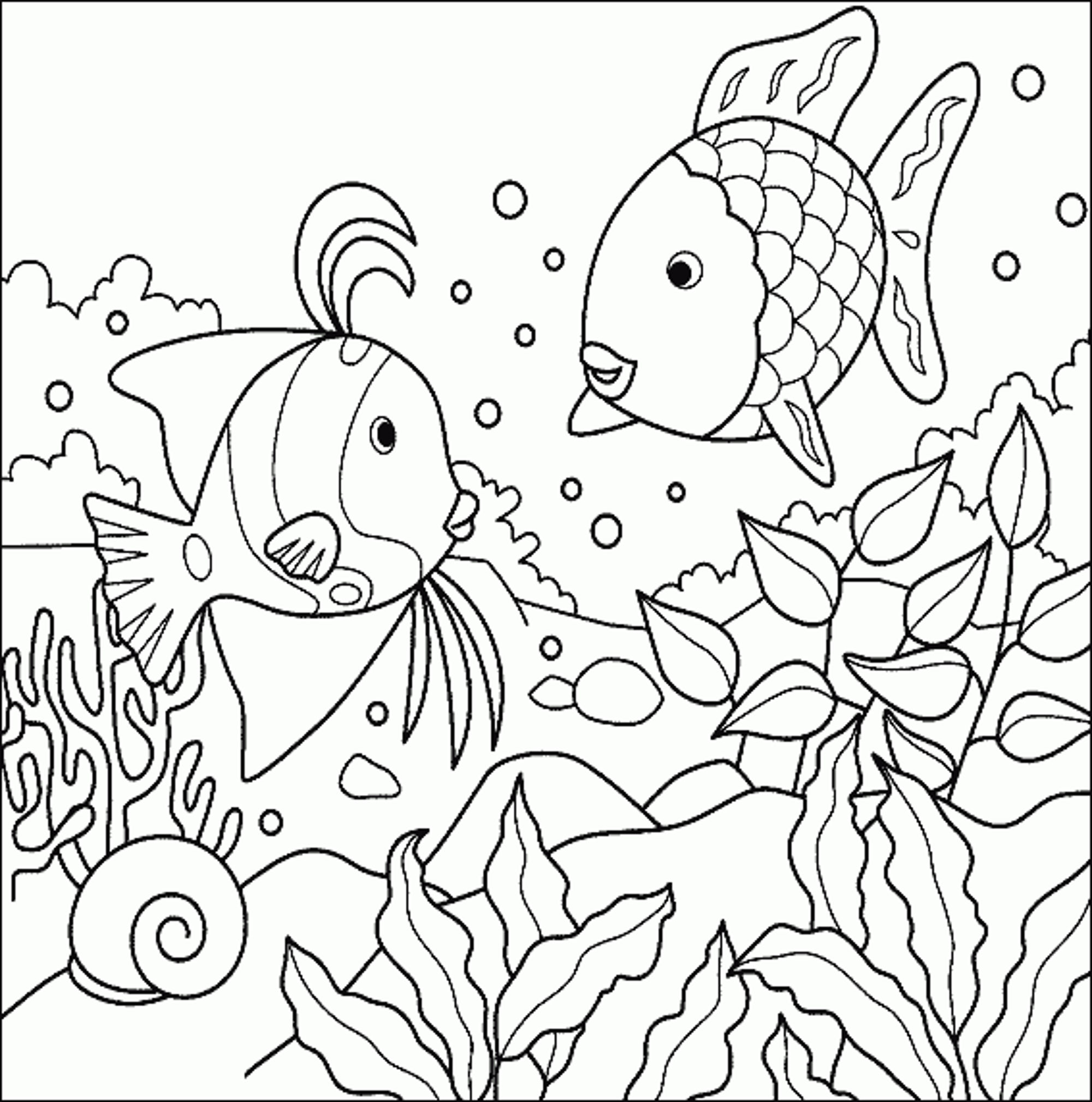 Tropical Fish Coloring Page Bestappsforkids